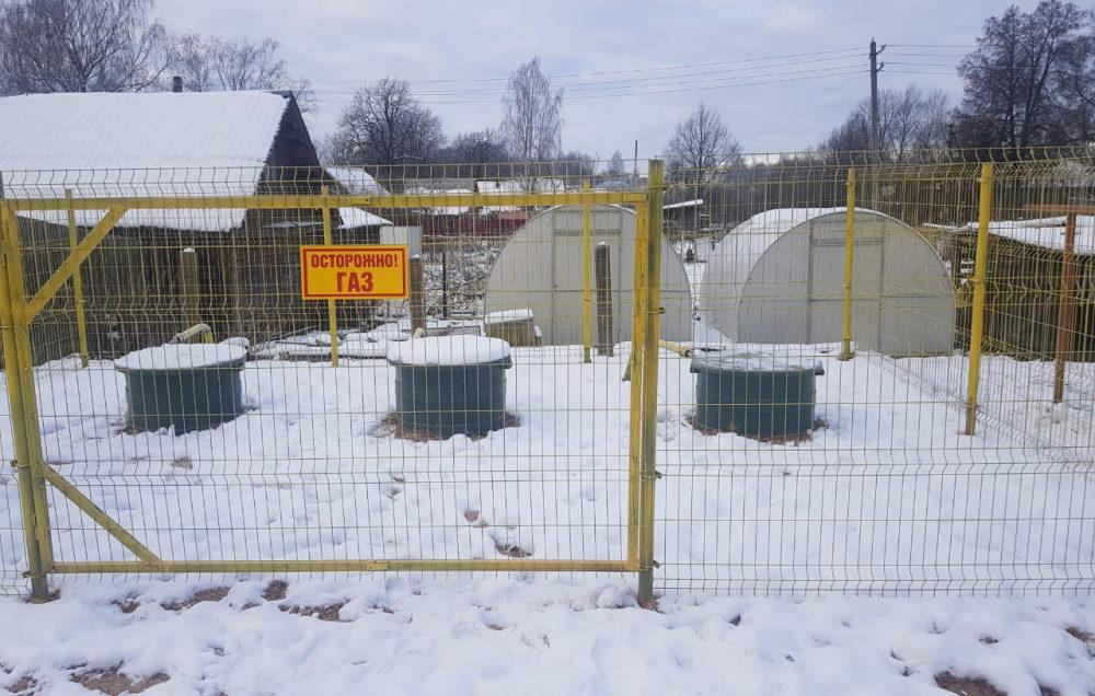 Групповая резервуарная установка коммунально-бытового назначения после проведения работ