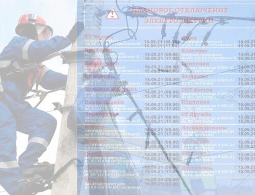 Отключение электричества запланировано в деревнях Псковского района